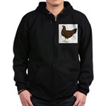 Partridge Chantecler Hen Zip Hoodie (dark)