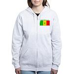 Senegal Senegalese Flag Women's Zip Hoodie