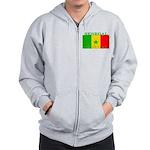 Senegal Senegalese Flag Zip Hoodie