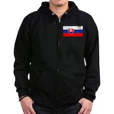 Slovakia Blank Flag Zip Hoodie