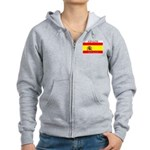 Spain Spanish Flag Women's Zip Hoodie
