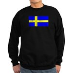 Sweden Blank Flag Sweatshirt (dark)