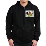 Mille Fleur Dutch Bantams Zip Hoodie (dark)