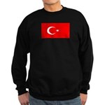 Turkey Turkish Blank Flag Sweatshirt (dark)