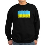 Ukraine Ukrainian Flag Sweatshirt (dark)
