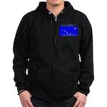 Alaska State Flag Zip Hoodie (dark)