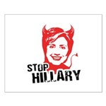 STOP HILLARY Small Poster