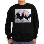 Black Dutch Chickens Sweatshirt (dark)