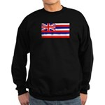 Hawaii Hawaiian Blank Flag Sweatshirt (dark)