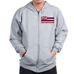 Hawaii Hawaiian Blank Flag Zip Hoodie