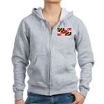 Maryland Blank Flag Women's Zip Hoodie