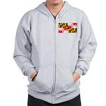 Maryland Blank Flag Zip Hoodie
