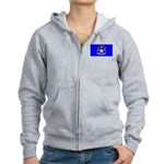 Michigan Blank Flag Women's Zip Hoodie