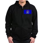 Michigan Blank Flag Zip Hoodie (dark)
