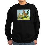 Mille Fleur Rooster & Hen Sweatshirt (dark)
