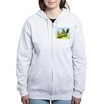 Mille Fleur Rooster & Hen Women's Zip Hoodie