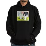 Porcelain d'Uccle Rooster and Hoodie (dark)