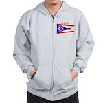 Ohio State Flag Zip Hoodie