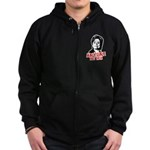 Anti-Hillary: Anyone but her Zip Hoodie (dark)