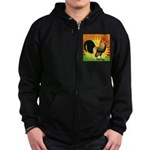 Rise and Shine Dutch Bantam Zip Hoodie (dark)
