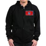Tennessee State Flag Zip Hoodie (dark)