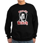 Anti-Hillary: Stop the Bitch Sweatshirt (dark)