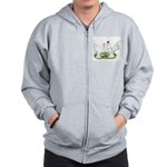 White d'Uccle Bantams Zip Hoodie