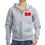 Vietnam Vietnamese Flag Women's Zip Hoodie