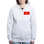 Vietnam Vietnamese Blank Flag Women's Zip Hoodie
