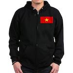Vietnam Vietnamese Blank Flag Zip Hoodie (dark)