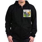 Feather-leg Trio Zip Hoodie (dark)
