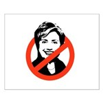 Anti-Hillary Small Poster