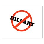 No Hillary Small Poster