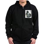 English Trumpeter Blue Zip Hoodie (dark)