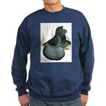 English Trumpeter Blue Check Sweatshirt (dark)