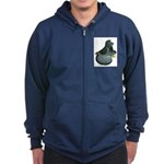 English Trumpeter Blue Check Zip Hoodie (dark)