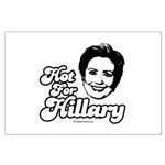 Hot for Hillary Large Poster