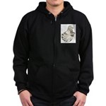 English Trumpeter Brown Splas Zip Hoodie (dark)