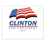 Clinton for President Small Poster