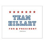 Team Hillary Small Poster