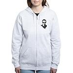 Hipster Obama Women's Zip Hoodie