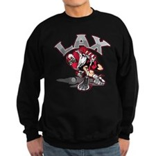 Lacrosse Player Red Uniform Sweatshirt