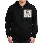 Mitt Romney Face Zip Hoodie (dark)
