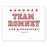 Team Romney Small Poster