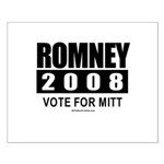 Romney 2008: Vote for Mitt Small Poster