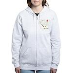 Leghorn White Hen Women's Zip Hoodie