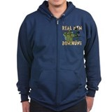 Real Men Bow Hunt Zip Hoody
