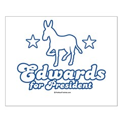 Edwards for Presiden Small Poster