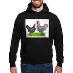 Marans Rooster and Hen Hoodie (dark)