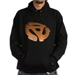 Orange 3D 45 RPM Adapter Hoodie (dark)